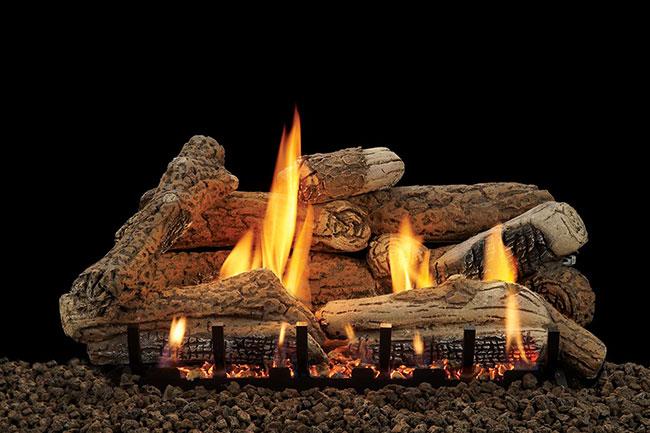 fireplace log sets
