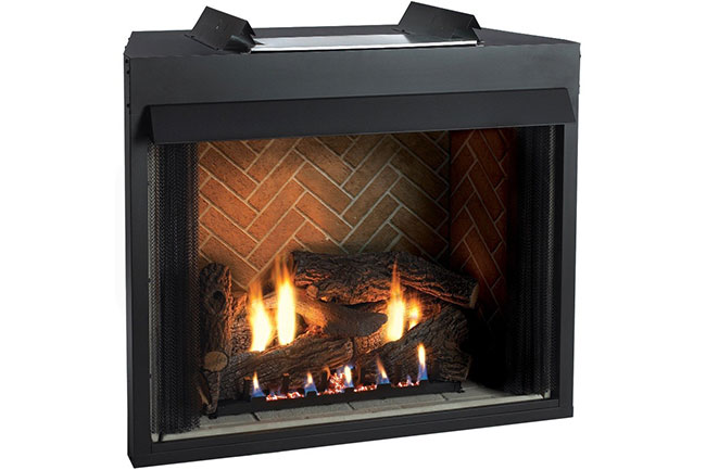 vent free fireplaces overhead door fireplace company. Black Bedroom Furniture Sets. Home Design Ideas
