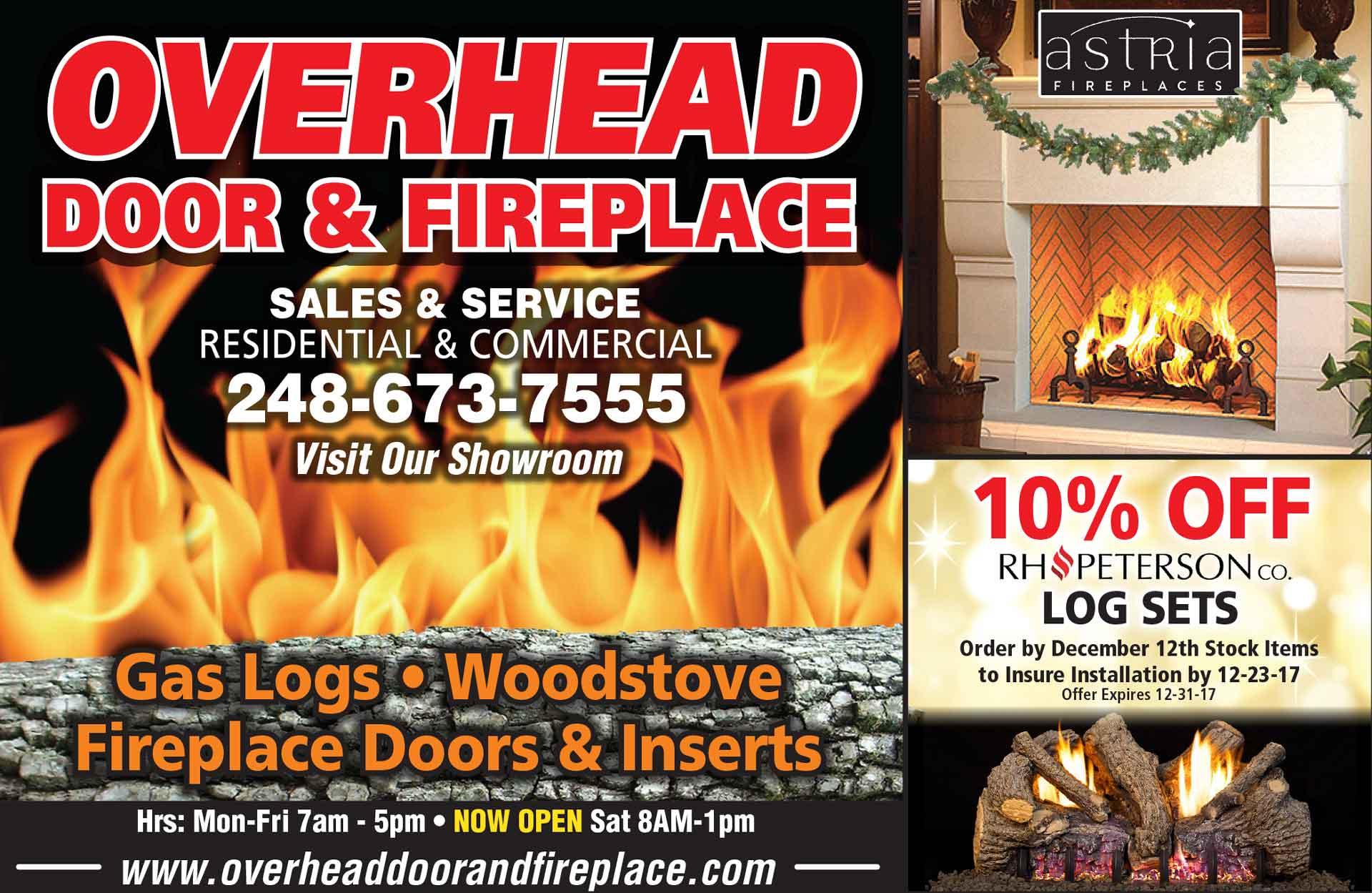 Overhead Fireplace Ad Nov Overhead Door Amp Fireplace Company