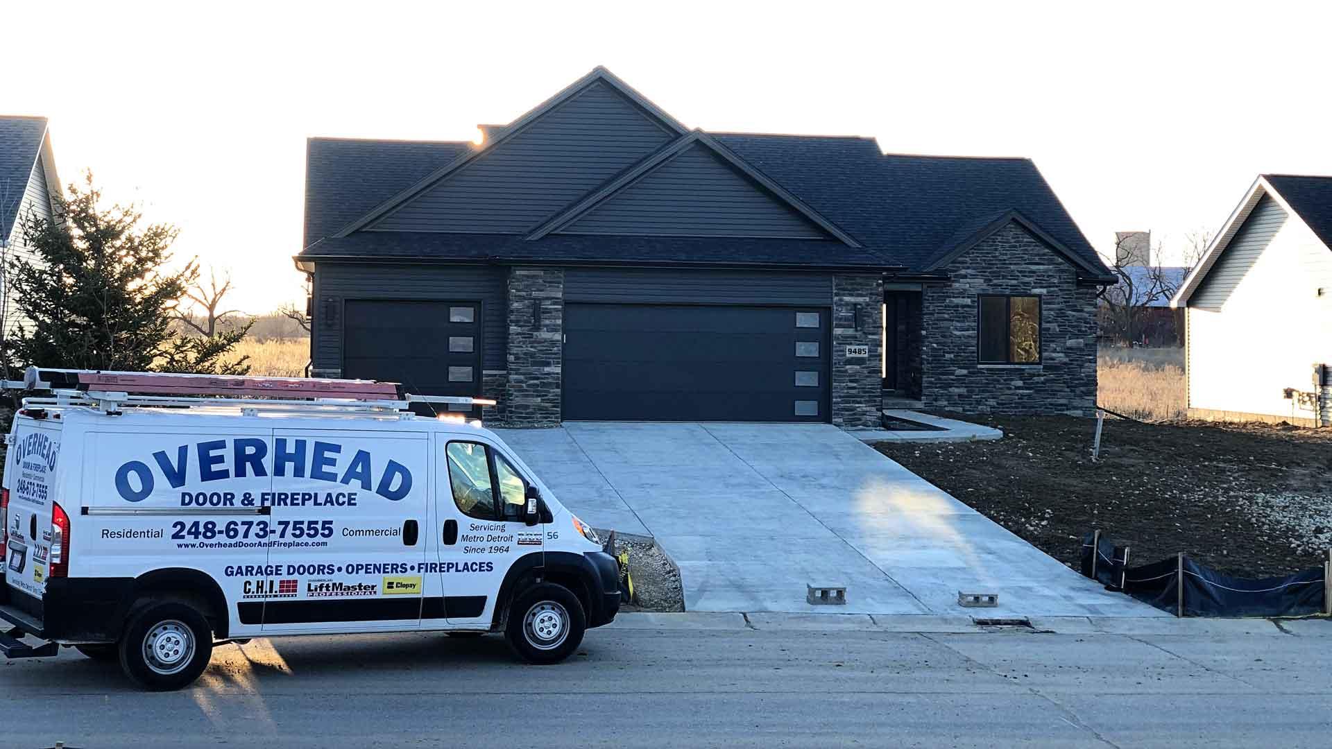 overhead door and fireplace garage door install